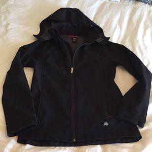 H&M Black Wind/Rain-Repellant Jacket - size 13-14Y